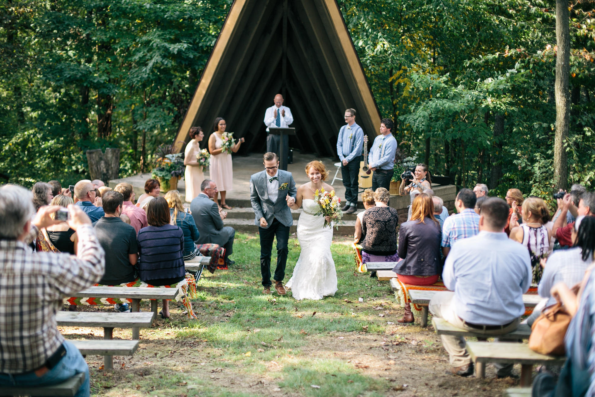 Camp Mack, Newmanstown PA Wedding | Modern, Boy Scout Camp, Bonfire, Wes Anderson Inspired | http://brittneyraine.com