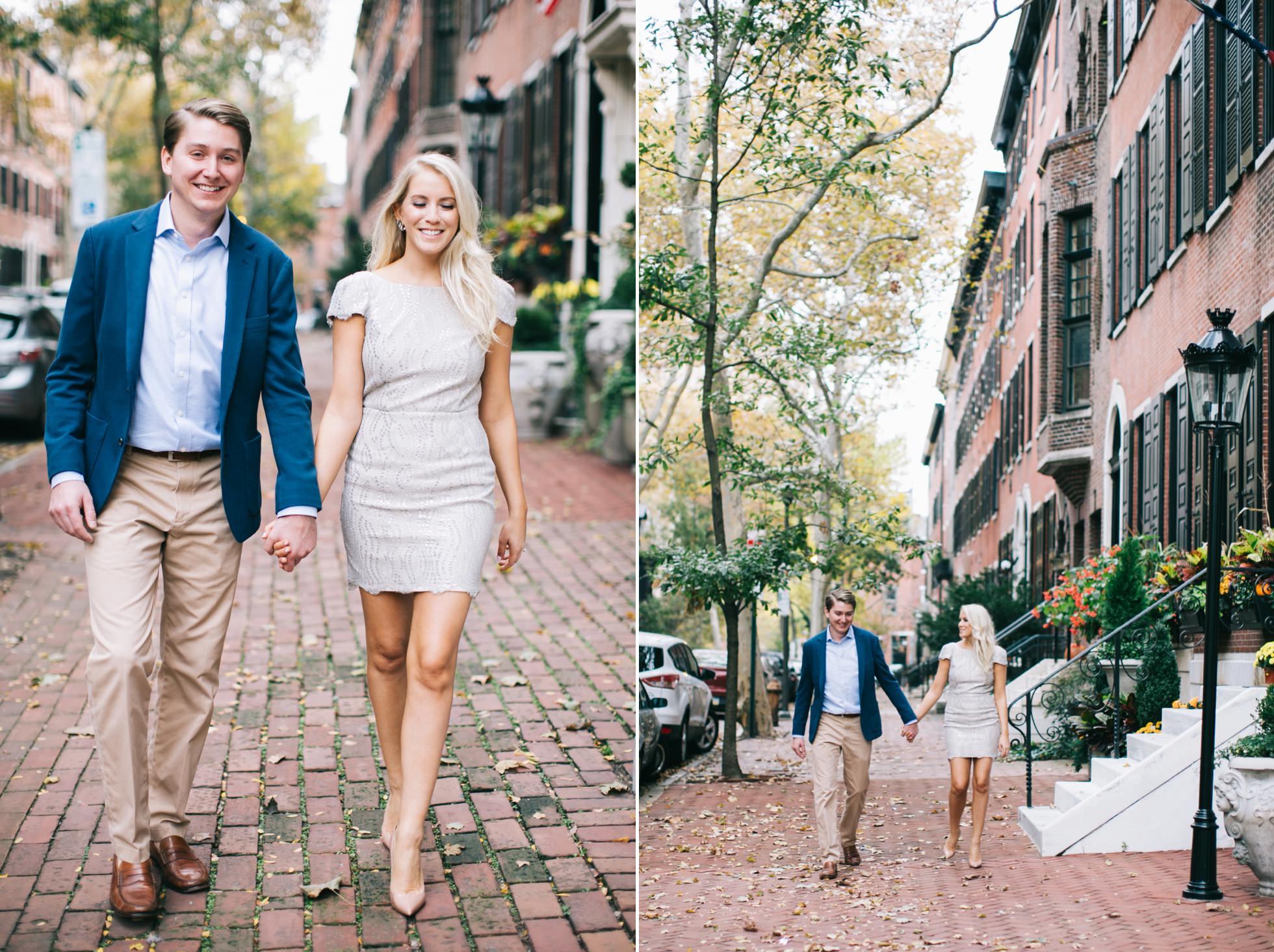 Jessica & Tim - Trendy Preppy Rittenhouse Parc Engagemenent 2