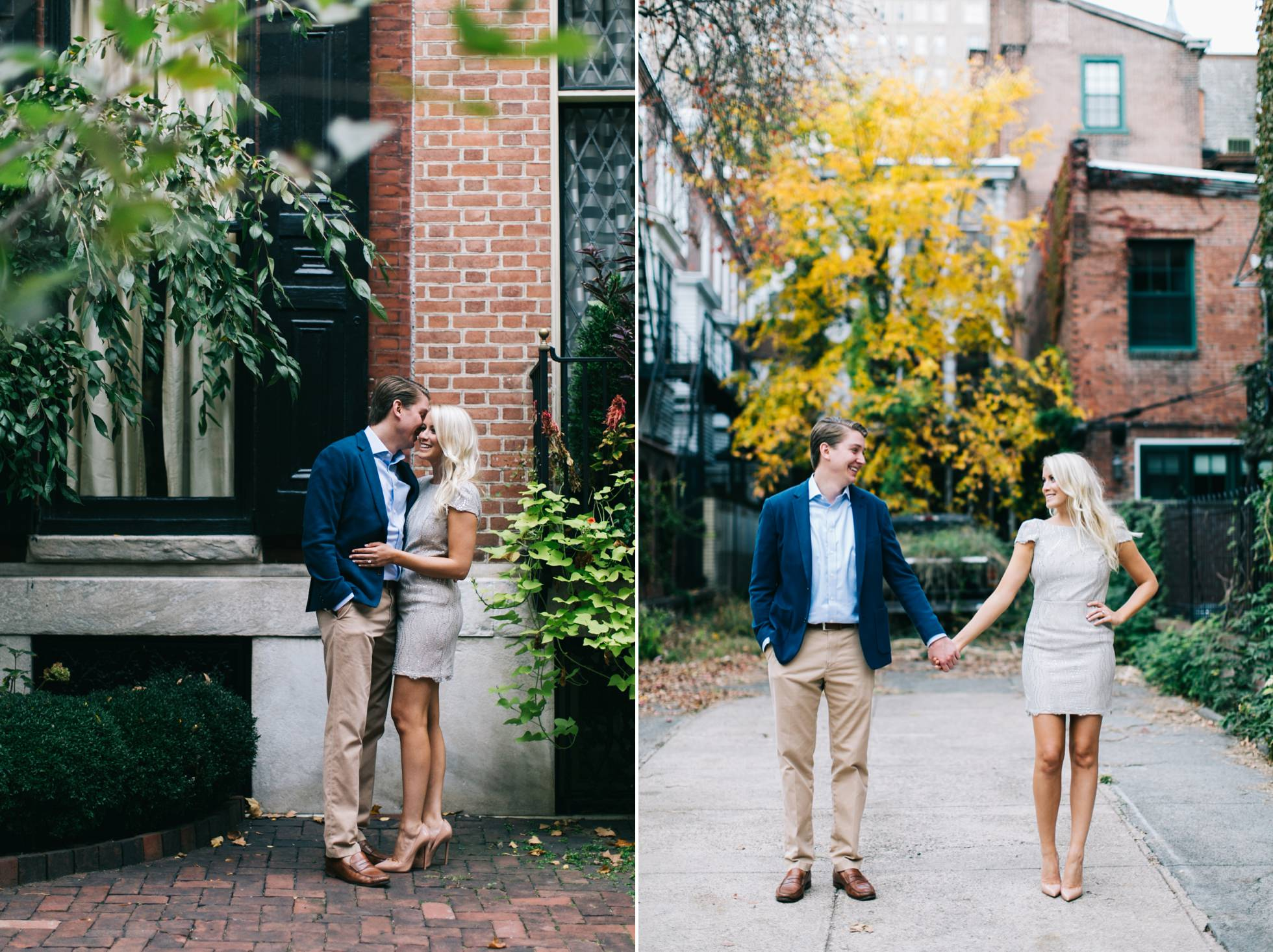 Jessica & Tim - Trendy Preppy Rittenhouse Parc Engagemenent 7