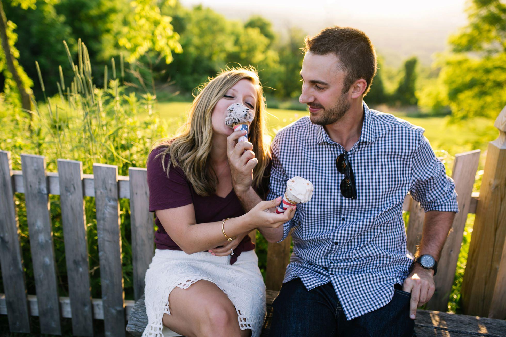 Ice Cream Sunset Engagement Photos 012