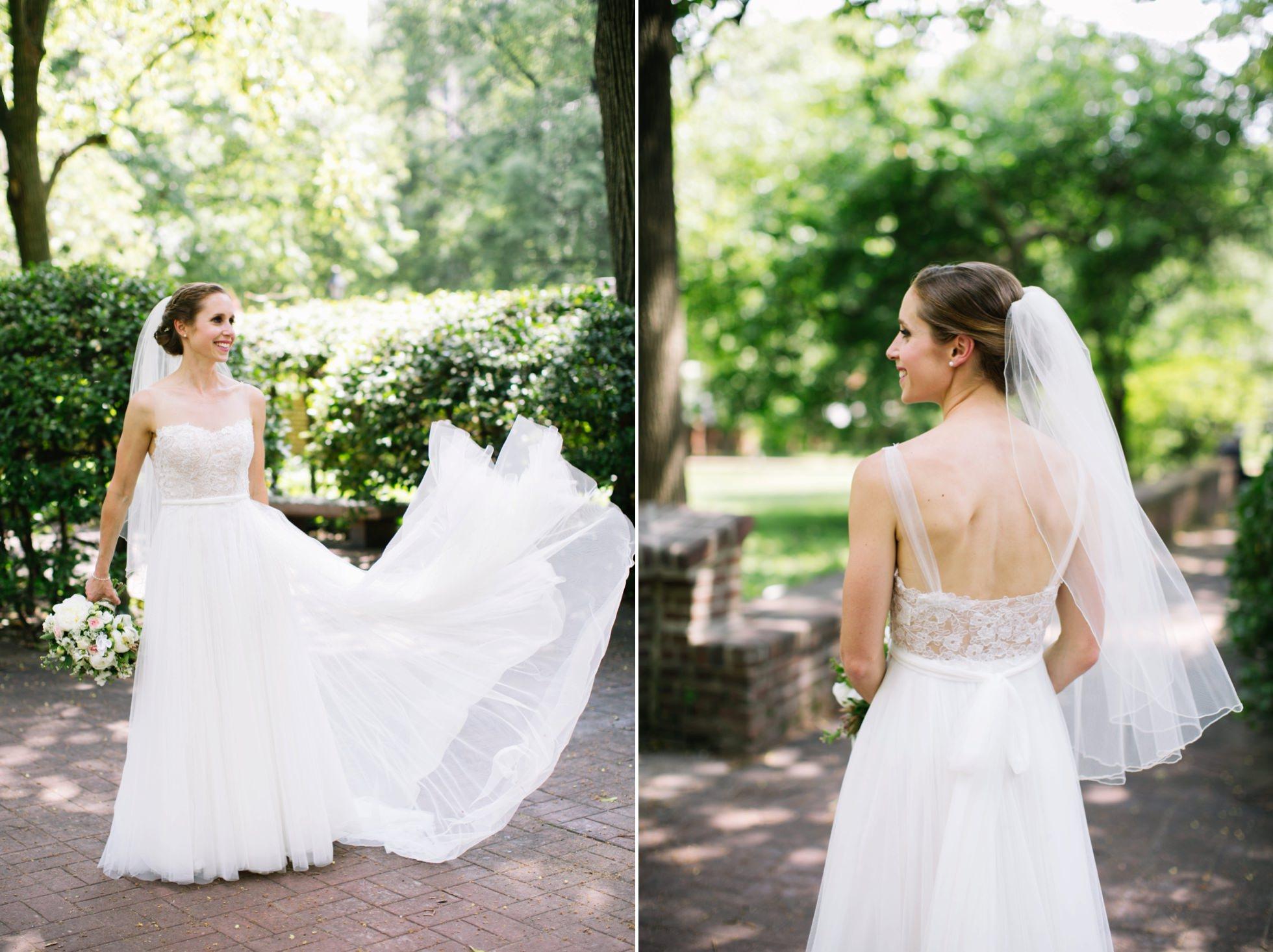 Romantic Bartram's Garden Outdoor Summer Wedding, Philadelphia | brittneyraine.com 033