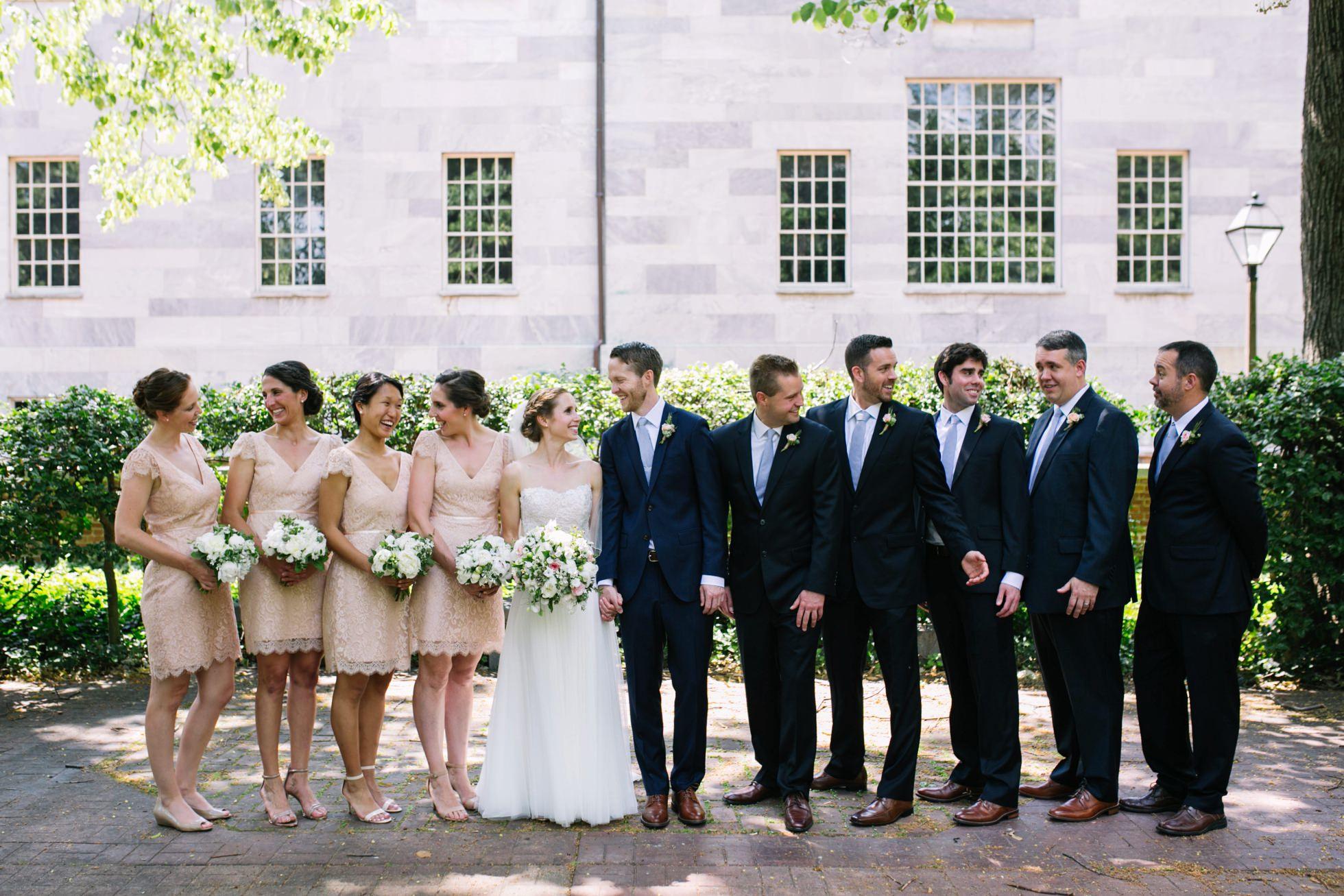 Romantic Bartram's Garden Outdoor Summer Wedding, Philadelphia | brittneyraine.com 037
