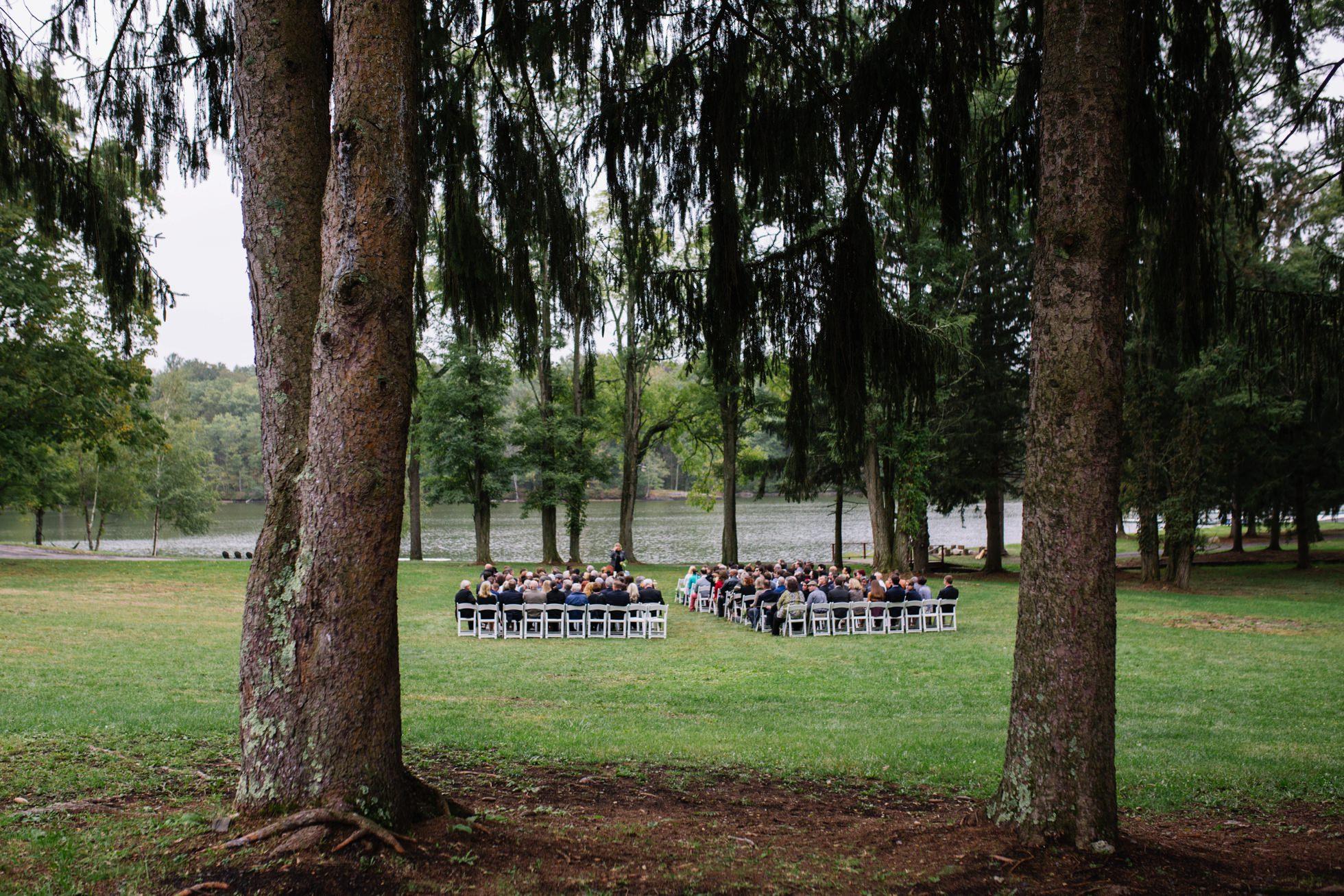 outdoor camp wedding