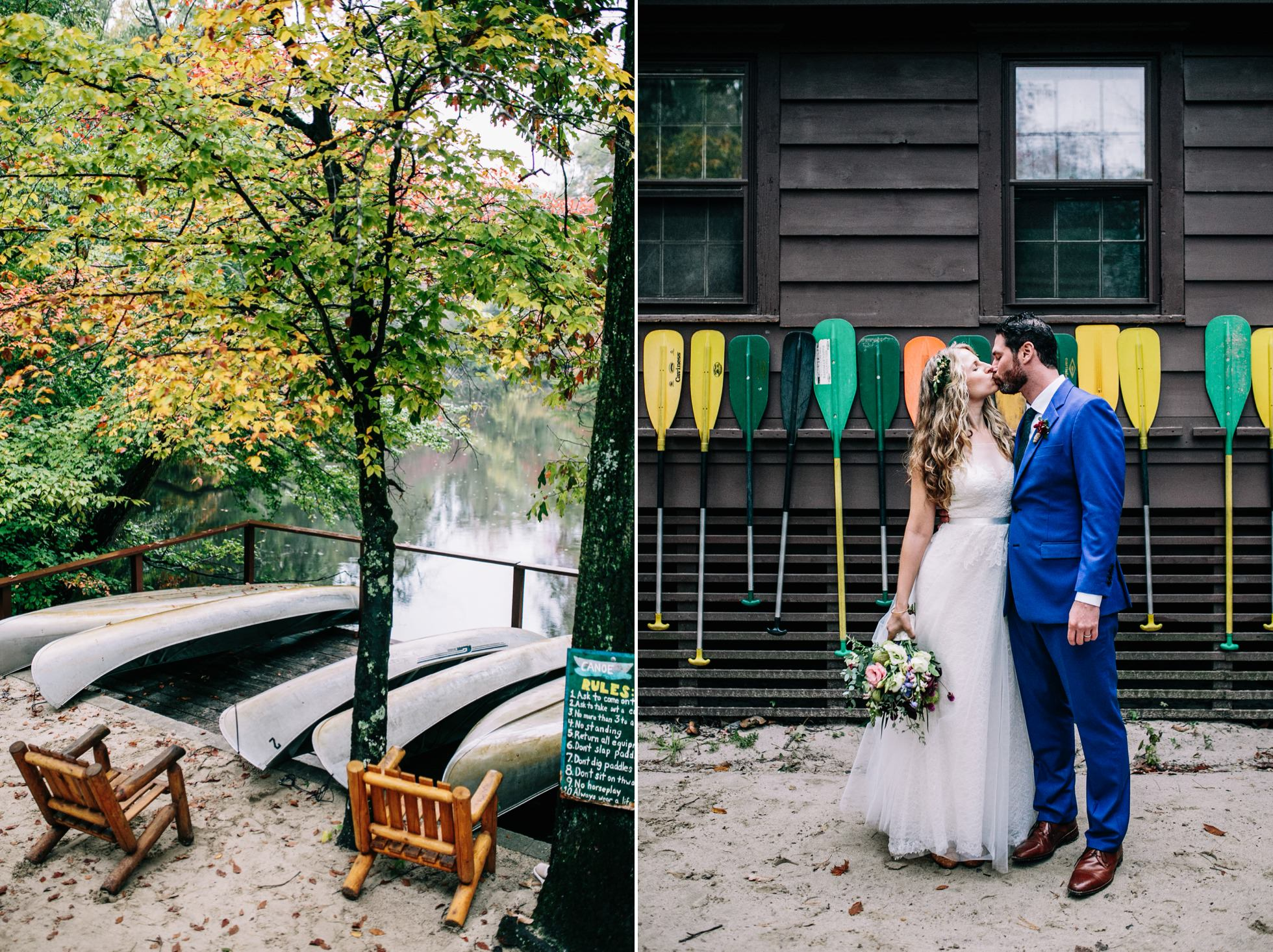 Best Unique PA NY NJ Wedding Venues - Campground Scout Camp Canoe