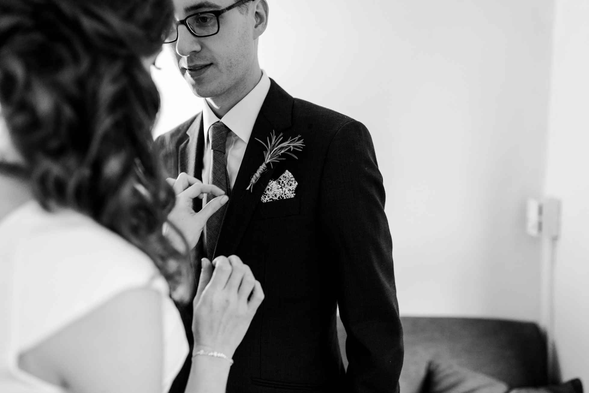 Bride Groom Getting Ready Together Wedding Ideas