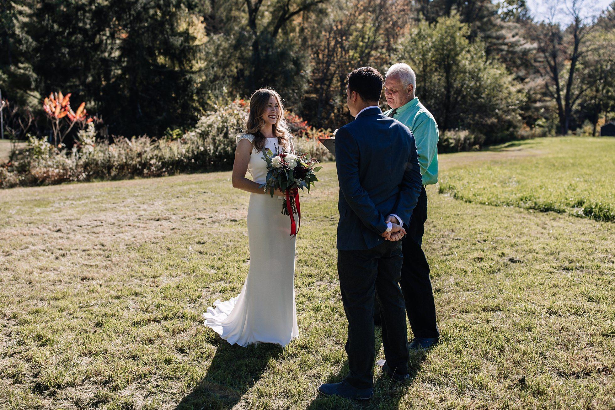 Romantic Wedding Elopement Outside