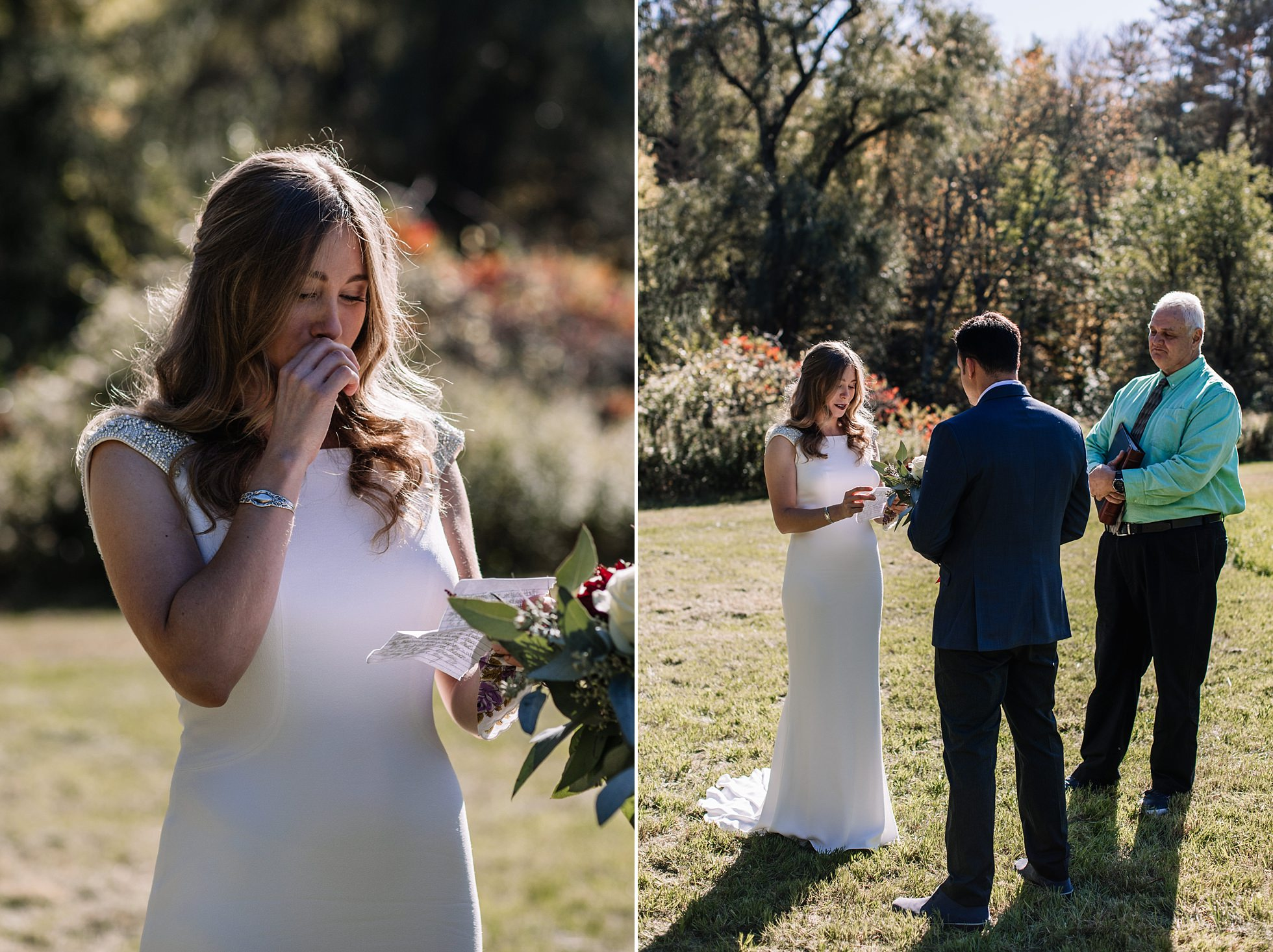 Intimate Elopement Vows Outdoors