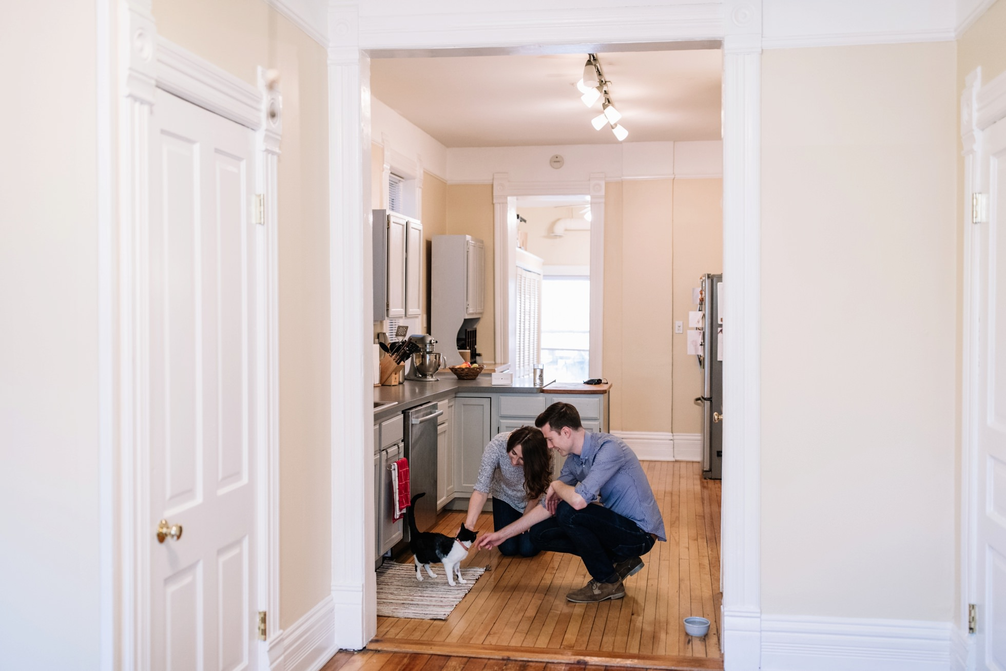 in home engagement photos