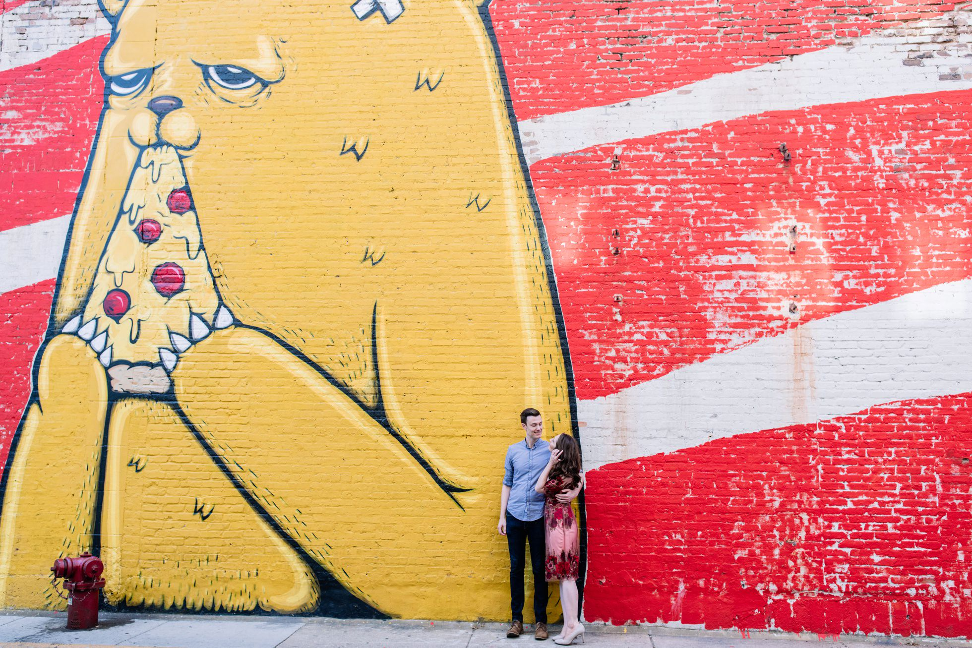chicago engagement session murals
