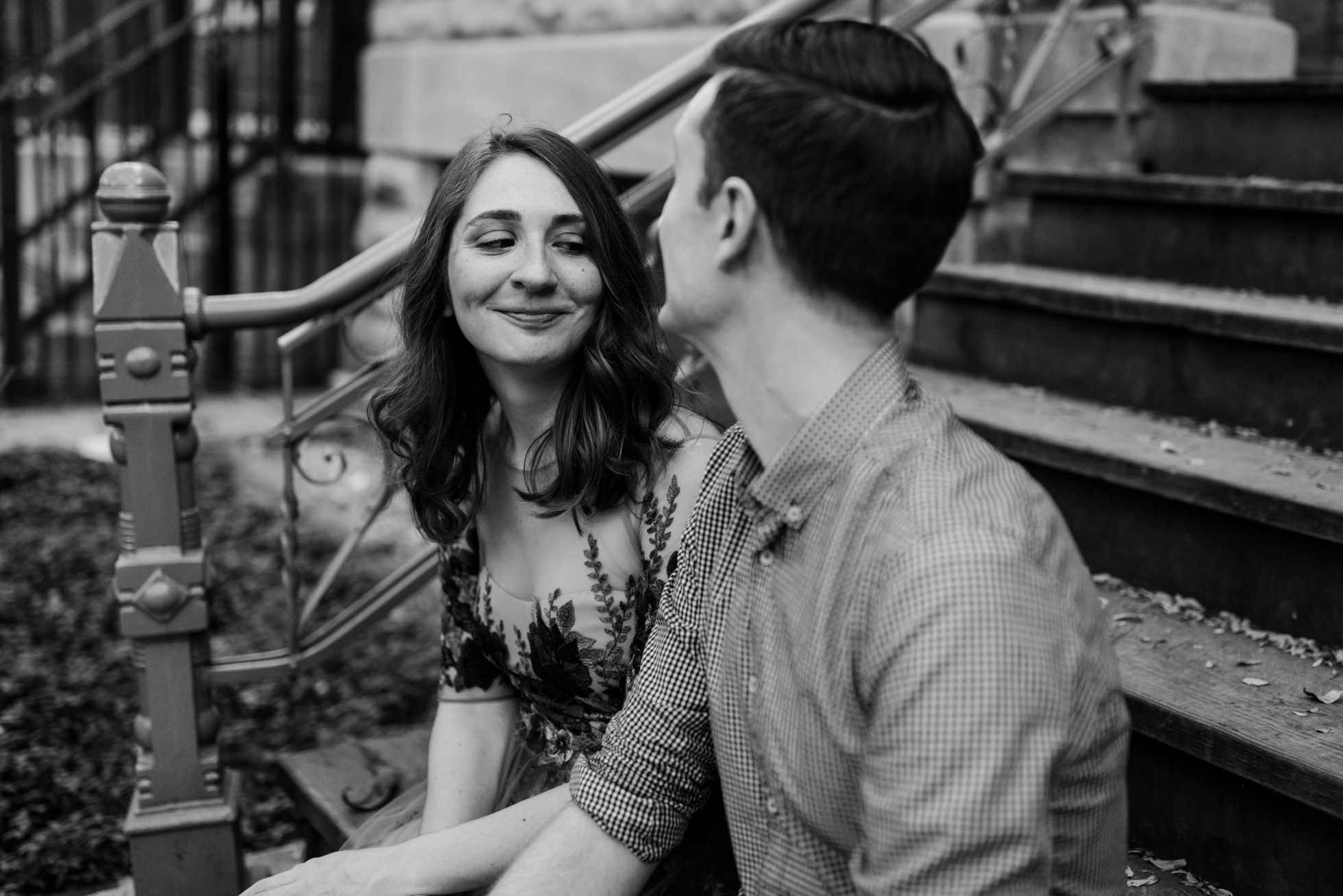 wicker park engagement photos