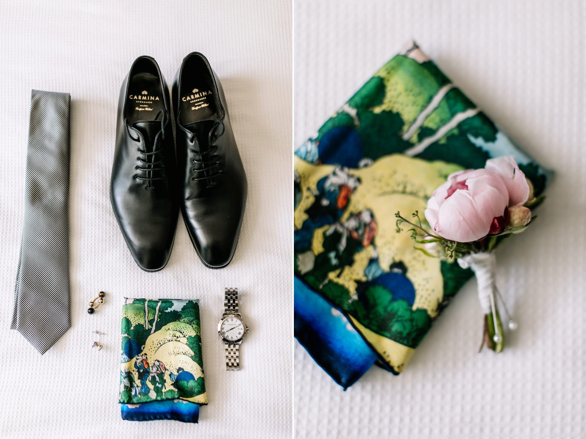 Wedding day groom details