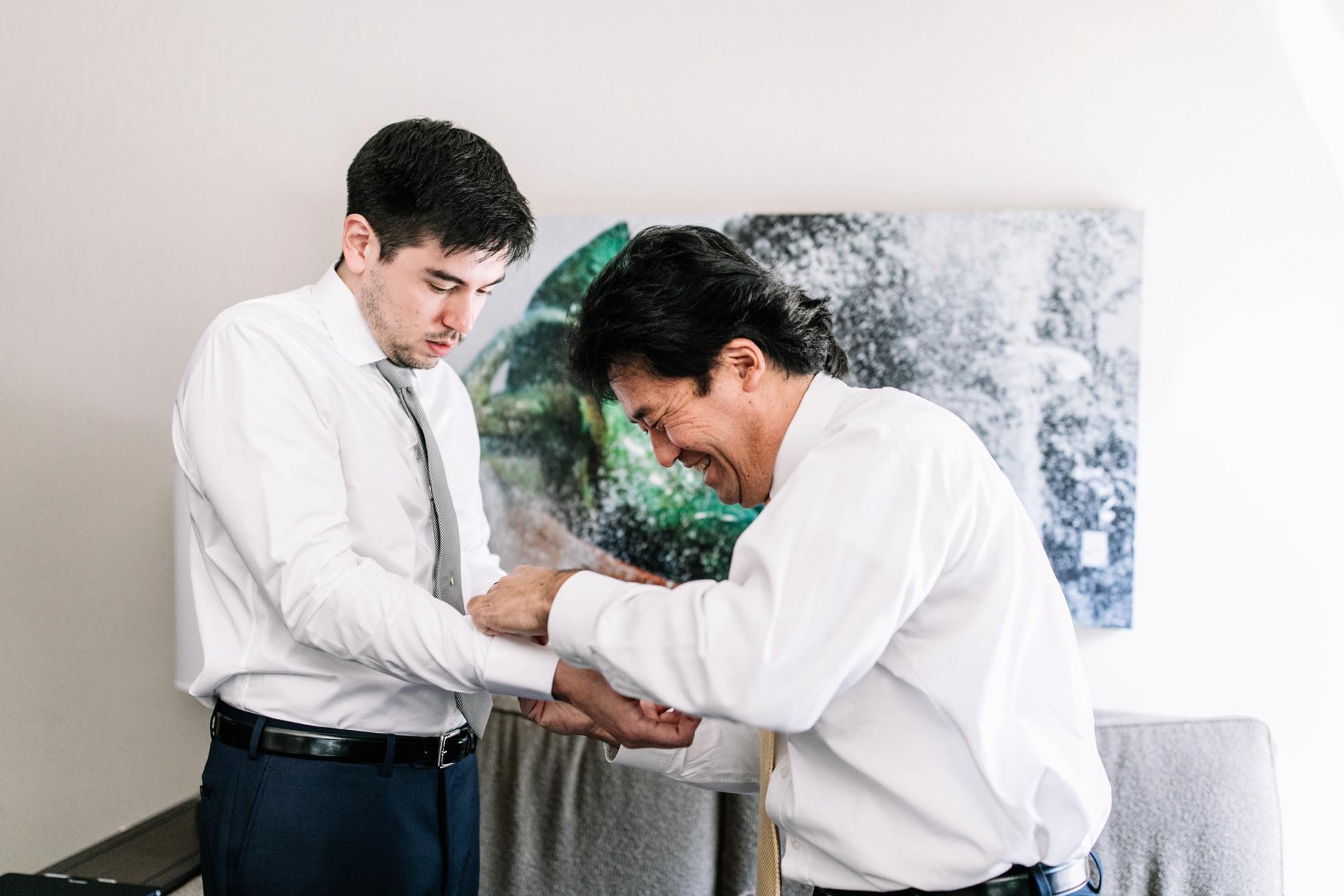 Wedding photos groom getting ready