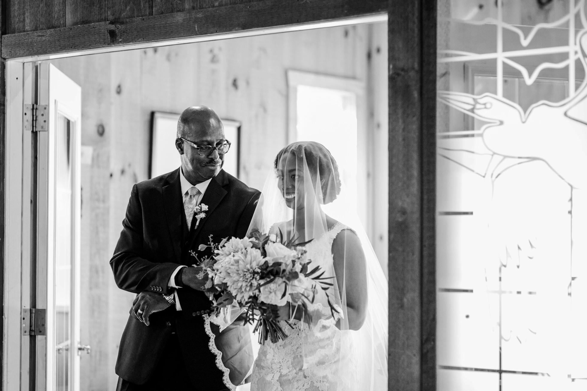 Bride and father wedding photos
