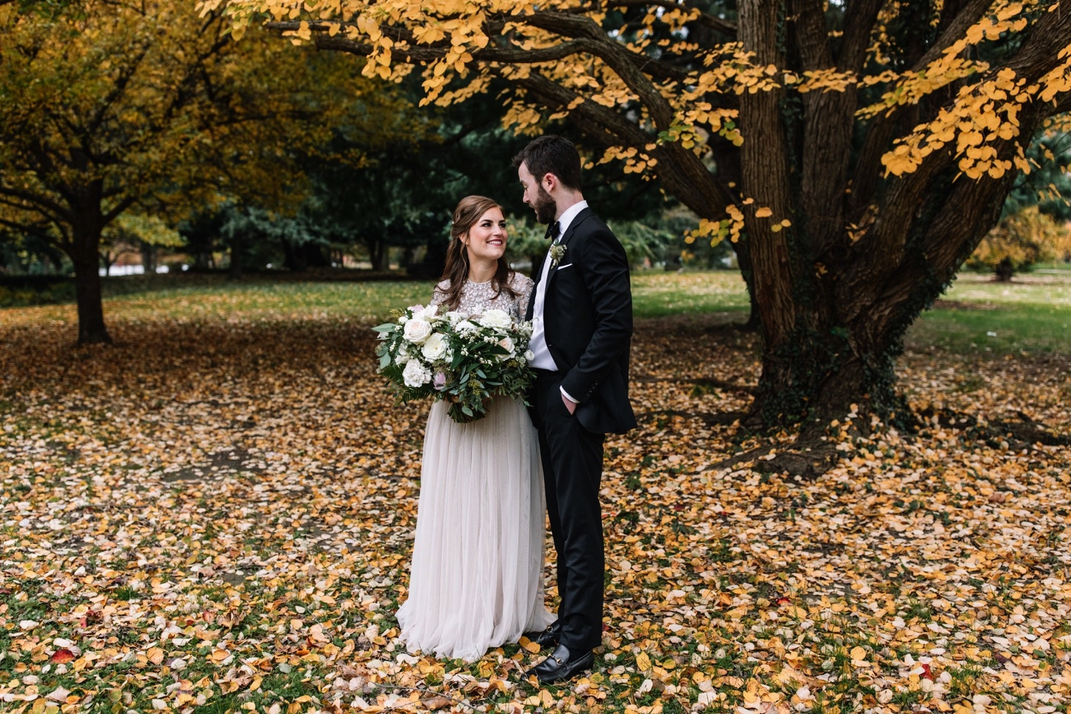 Autumn Romantic Wedding Horticulture Center Philadelphia