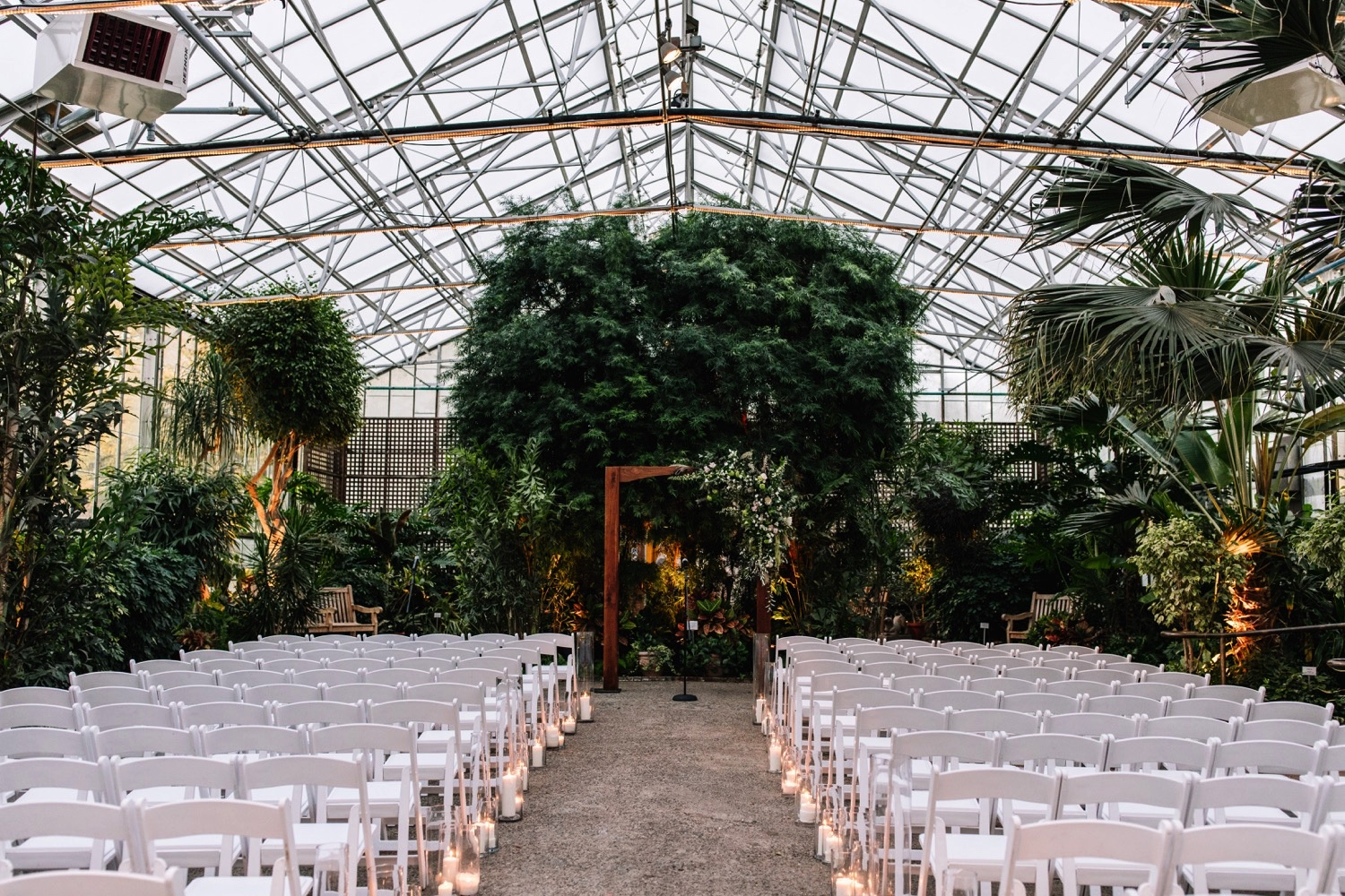 Greenhouse Wedding Horticulture Center Philadelphia