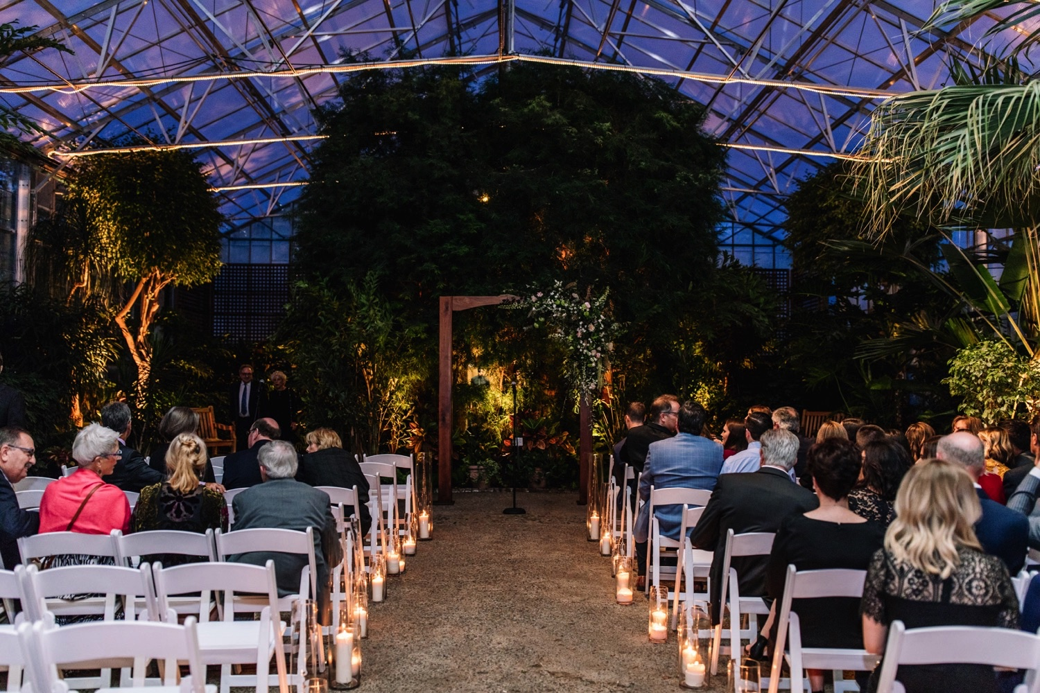 Greenhouse Wedding Fairmount Horticulture Center Wedding