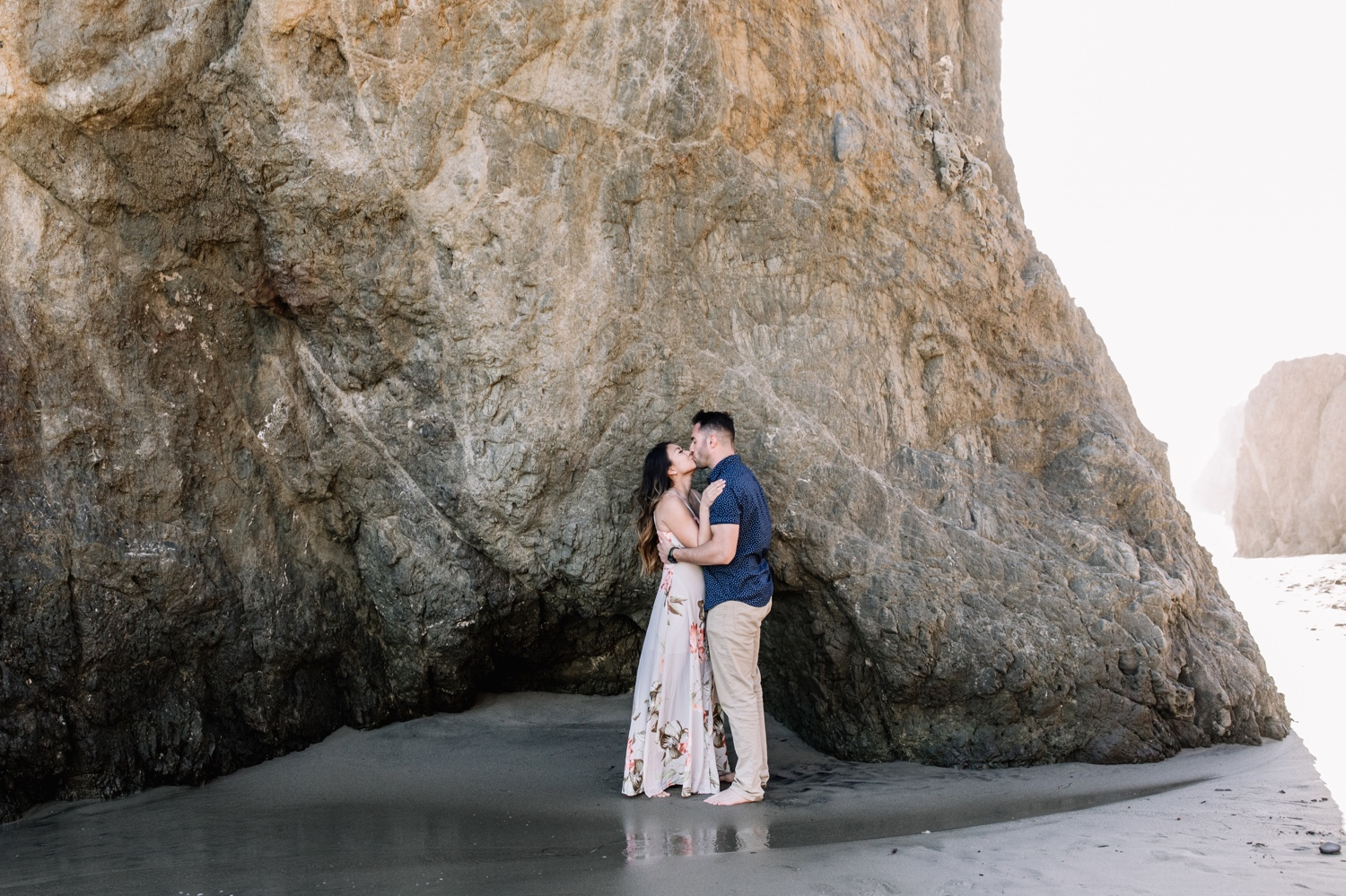 Rocky coastal California engagement shoot