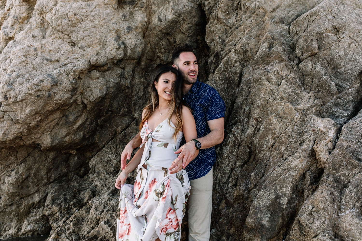 El Matador Beach Malibu engagement session