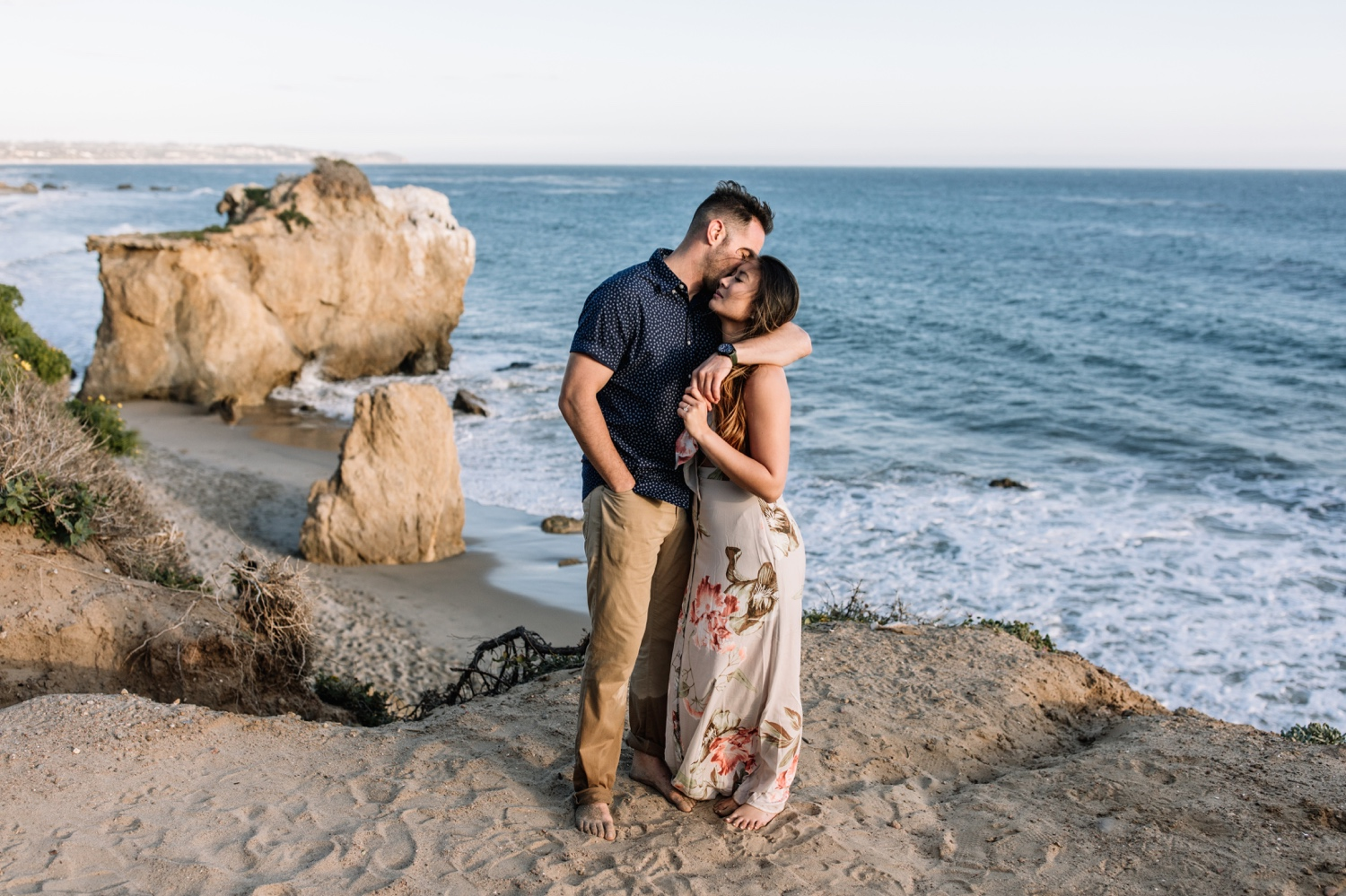 Romantic coastal California lifestyle engagement shoot