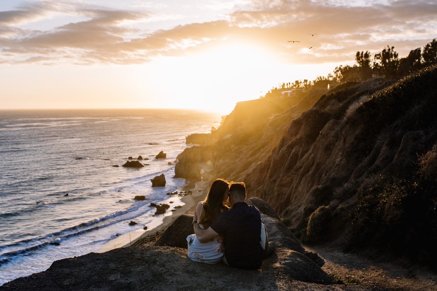 Malibu engagement photos at El Matador State Beach