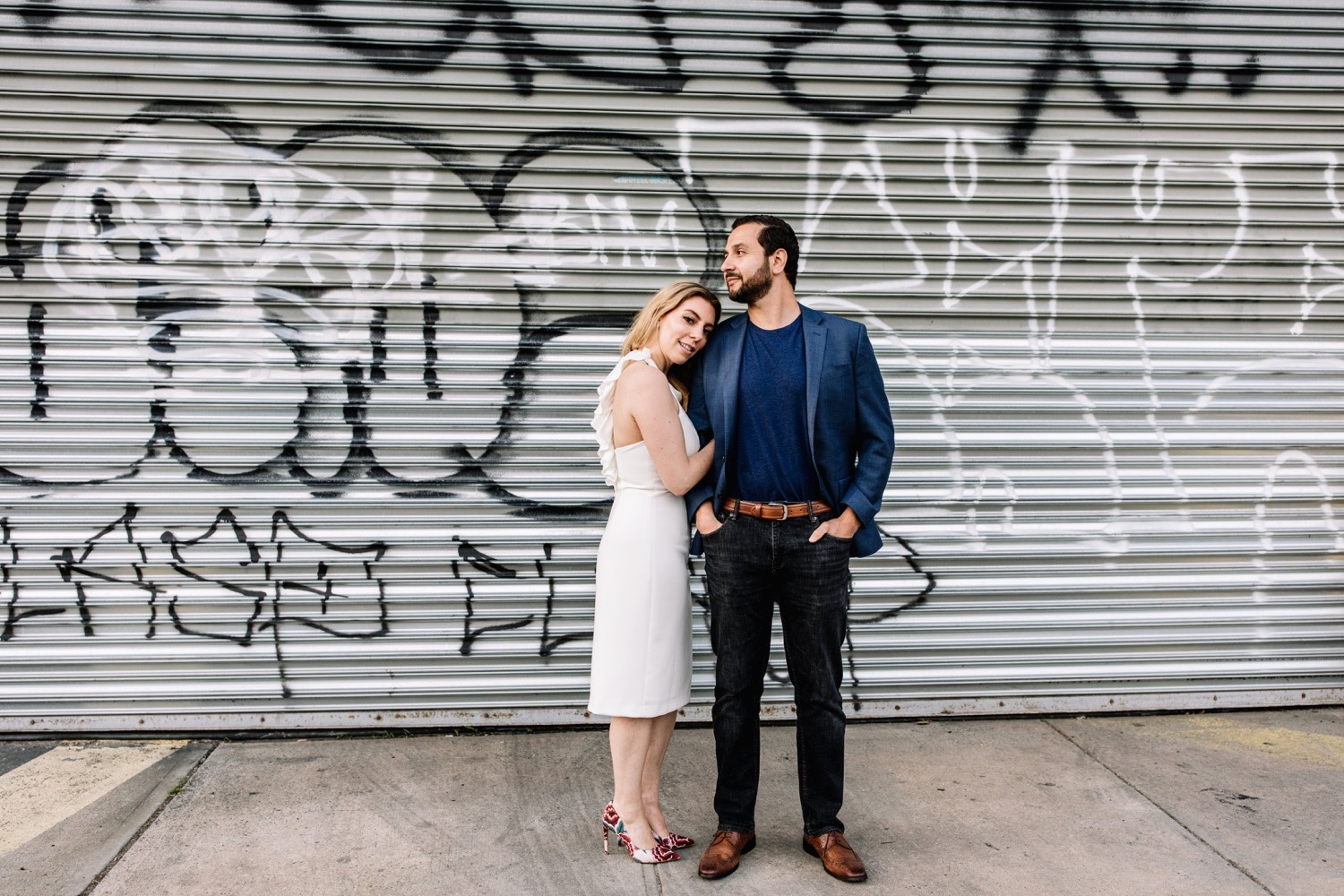 Modern Williamsburg Brooklyn Engagement Session