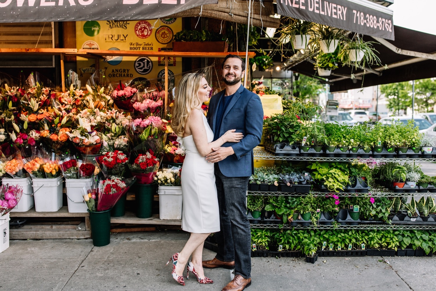 Whimsical Flower Shop Bodega Brooklyn Engagement Photos