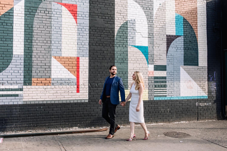 Brooklyn Mural Engagement Photos - NYC Wedding Photographer