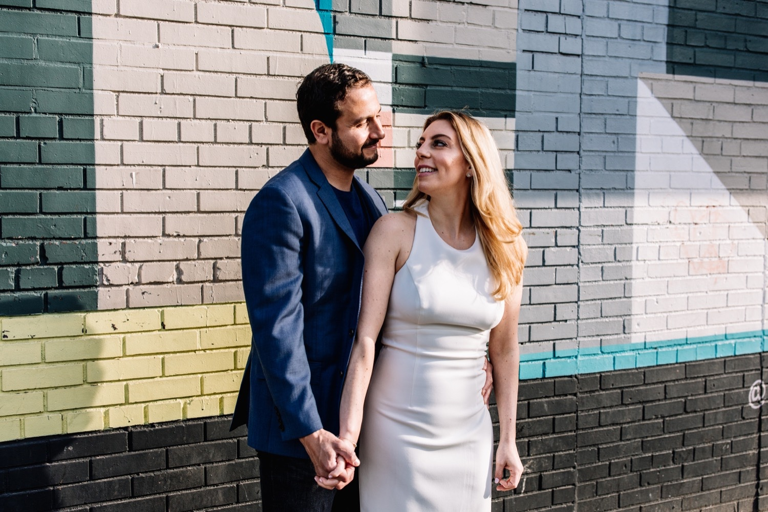 Brooklyn Mural Engagement Photos - NYC Wedding Photographer