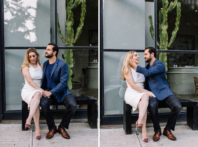 Stylish Editorial Brooklyn Engagement Photo Shoot