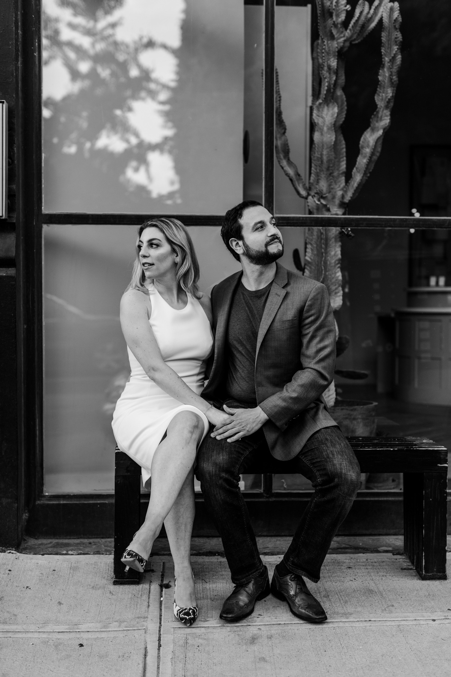 Stylish Editorial Brooklyn Engagement Photo Shoot