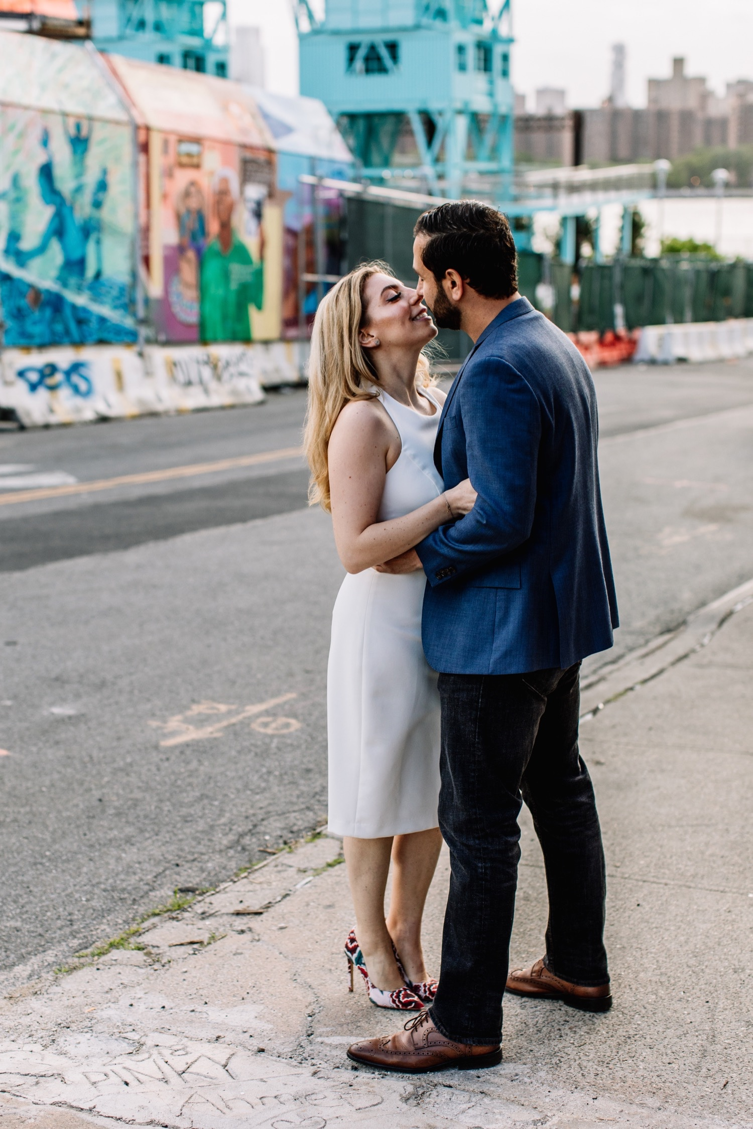 Williamsburg Brooklyn - Grand Ferry Park Engagement Photos