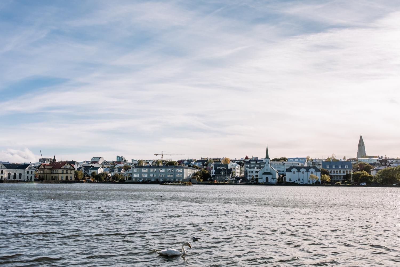 Tjörnin pond Iceland Reykjavik
