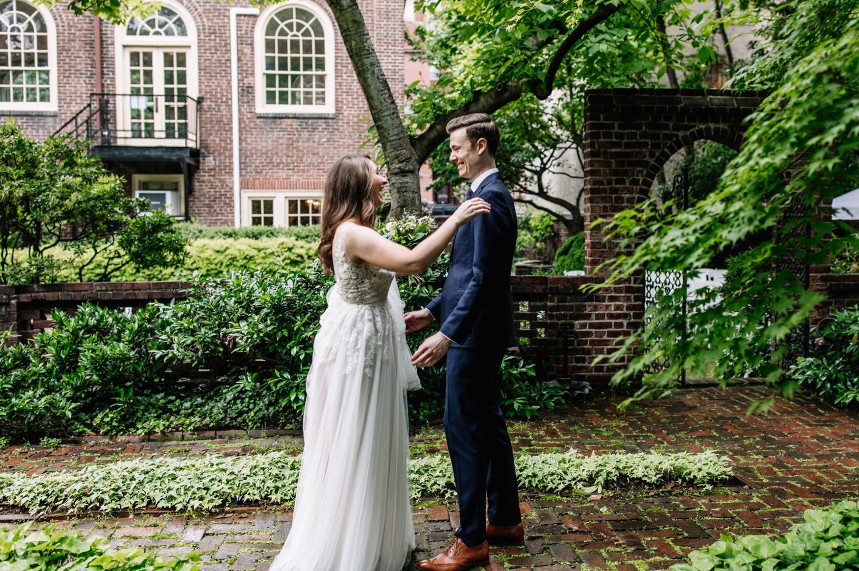 First Look Wedding Photos Philadelphia