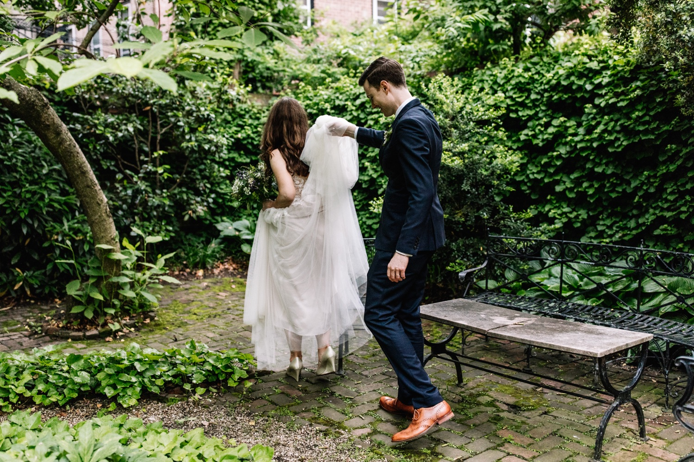 Colonial Dames Society Outdoor Wedding Philadelphia