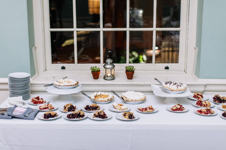 Wedding Dessert Ideas - Pie Bar