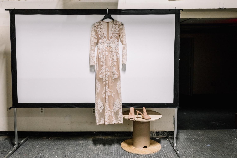 For Love & Lemons Wedding Dress - Industrial Wedding