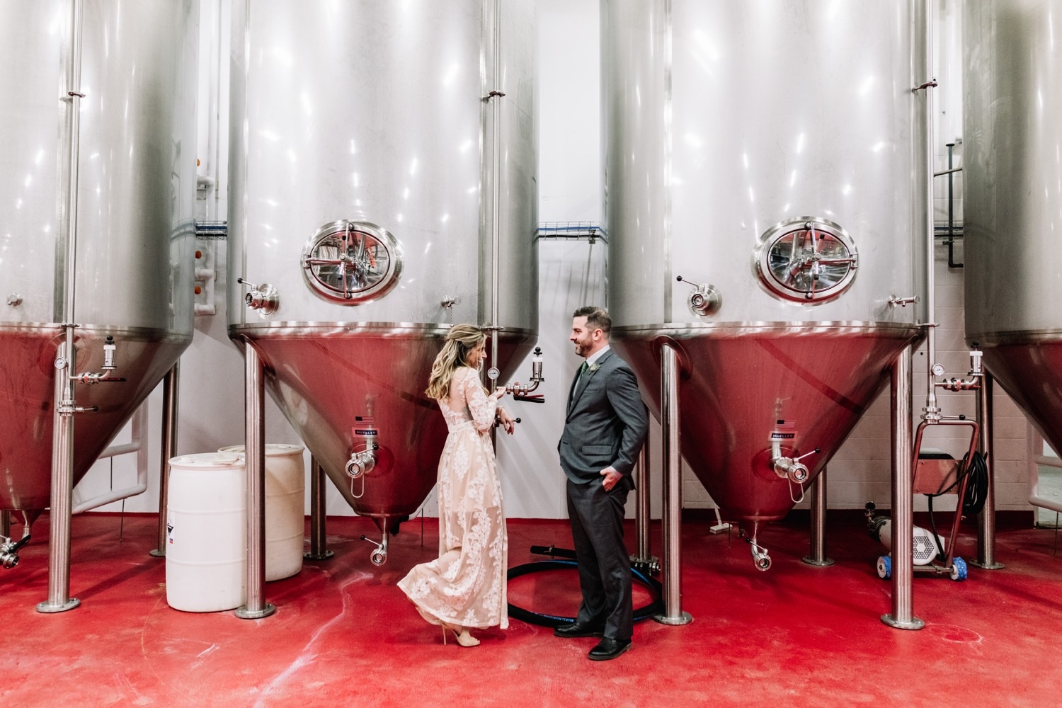 Surprise Wedding at Workhorse Brewing Company