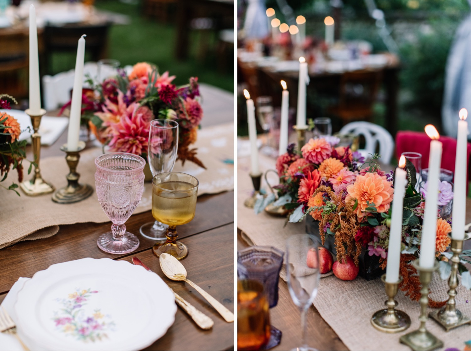 Autumn Wedding Inspiration Bold Colors Jewel Tones