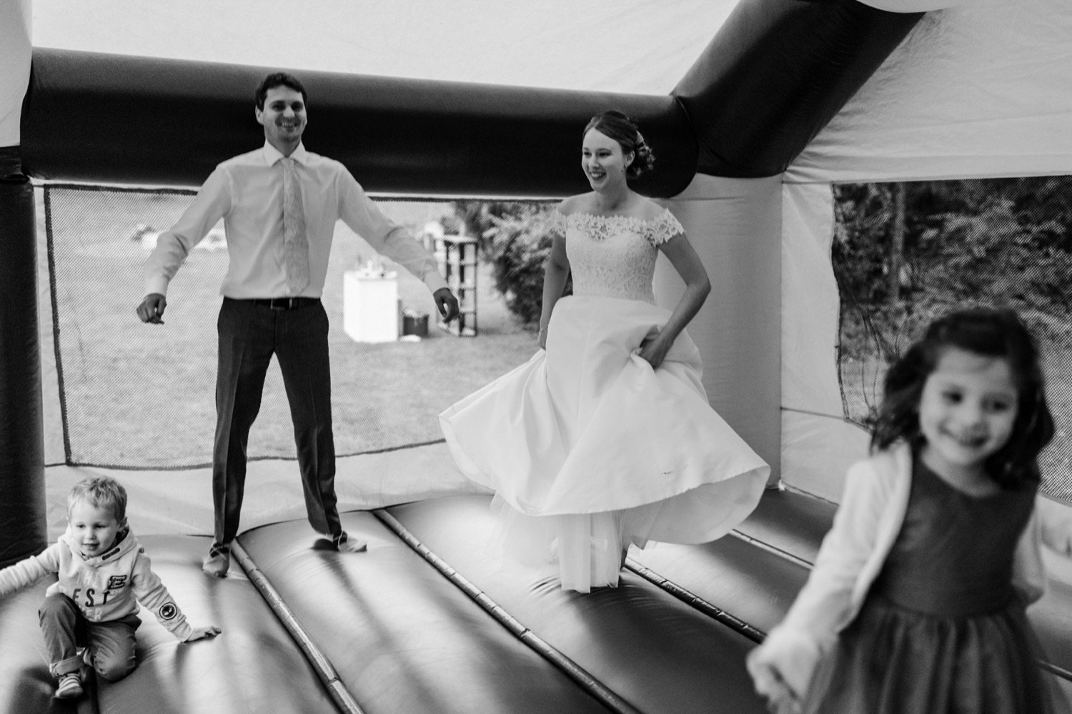 Bouncy Castle Wedding Photos