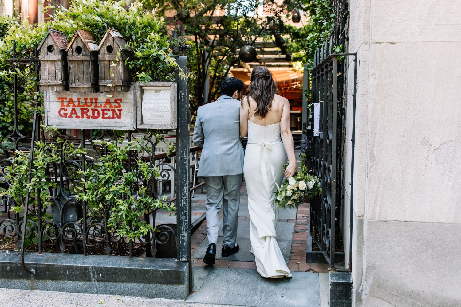 Talula's Garden Outdoor Wedding in Washington Square West Philadelphia