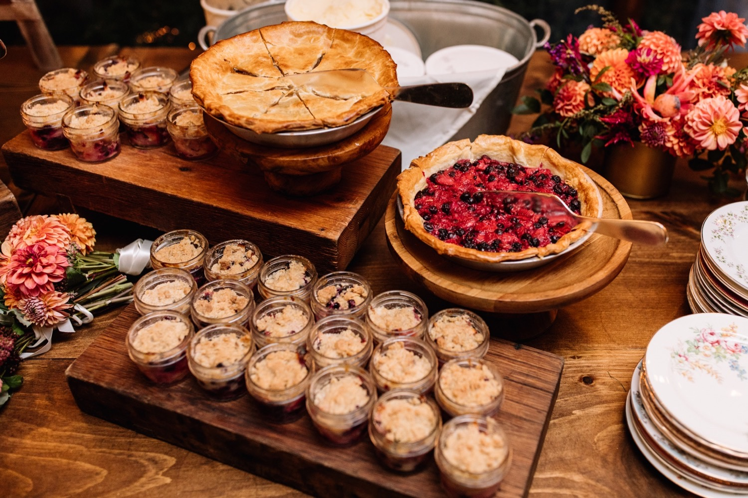 Pie Bar Wedding Inspiration - Backyard Wedding Ideas