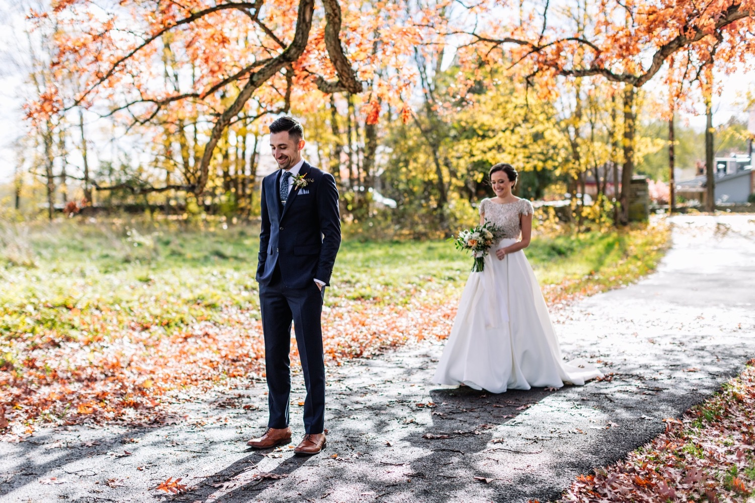 Autumn Catskills NY Wedding Photos