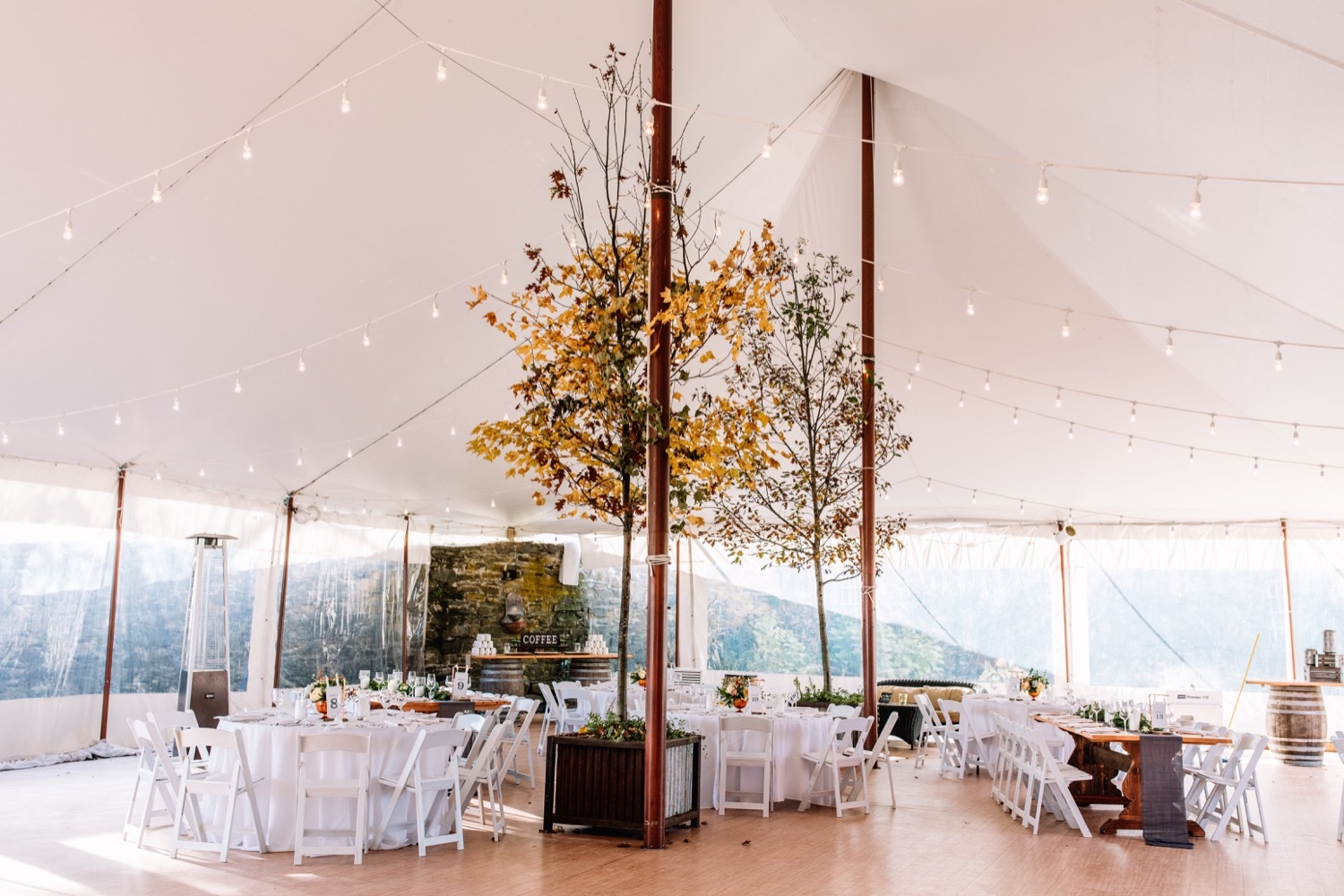 Outdoor Farm Wedding Tent - Hudson Valley