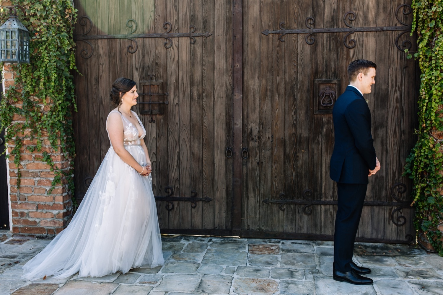 Orange County Wedding Photos - First Look