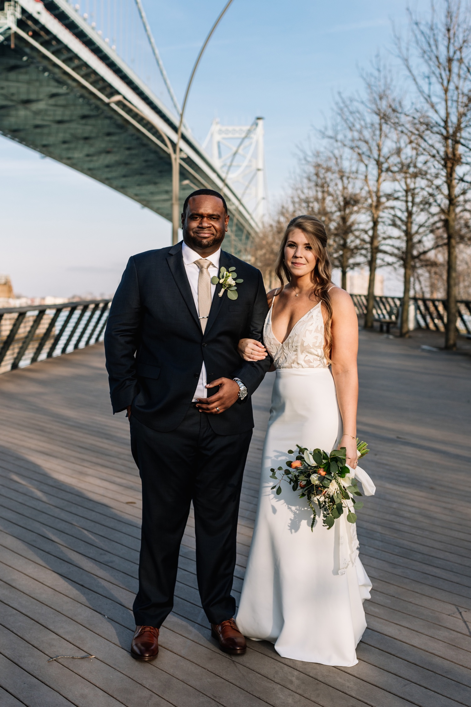 Inclusive Wedding Photographers Philadelphia - Race St Pier