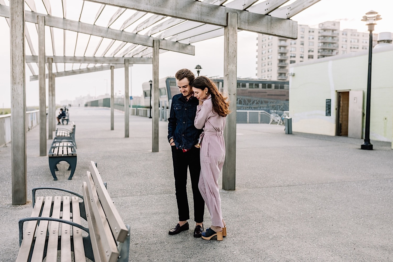 Rockaway Beach Queens NYC Engagement Shoot