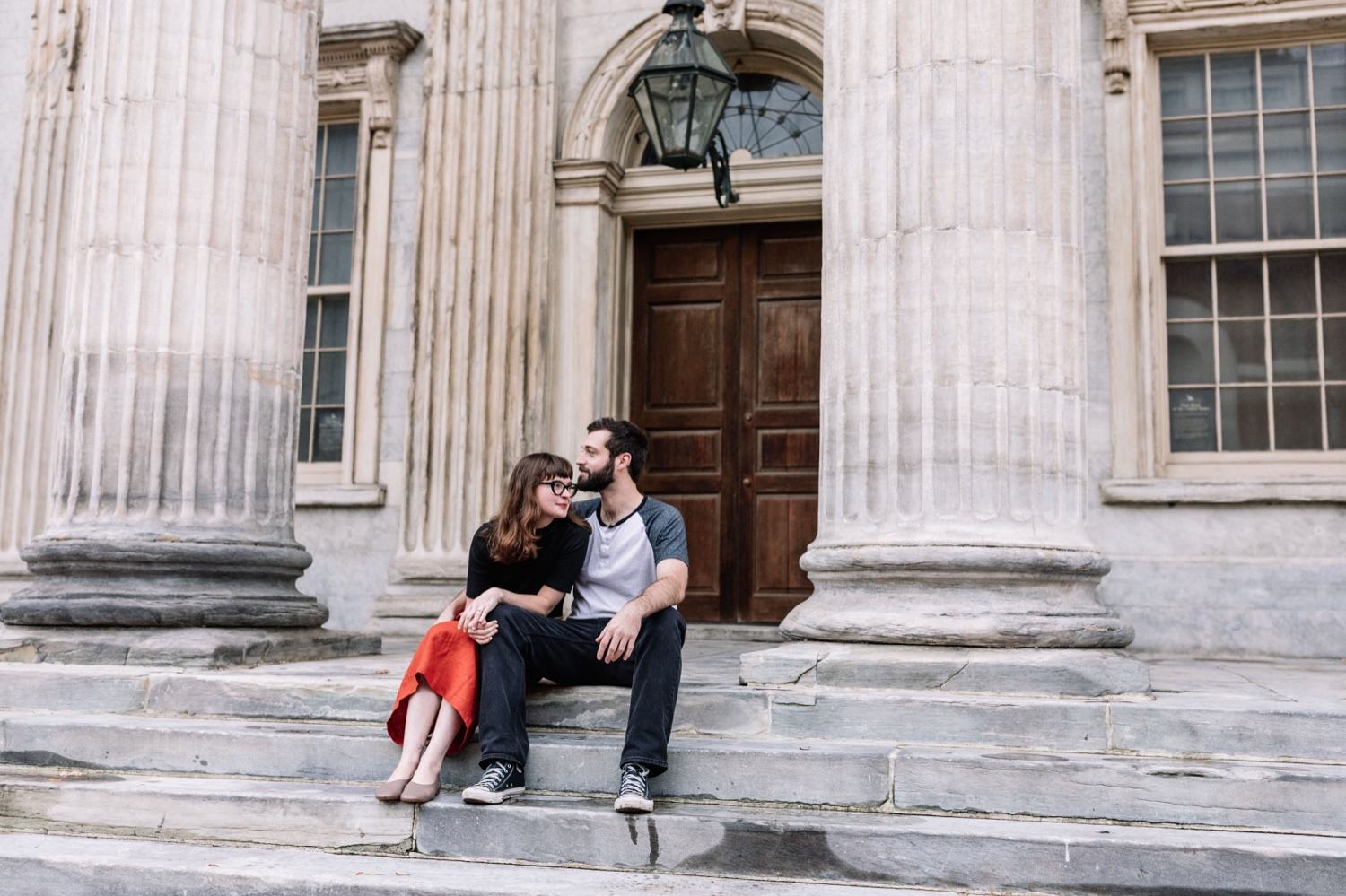 Old City First Bank Philadelphia engagement portrait shoot